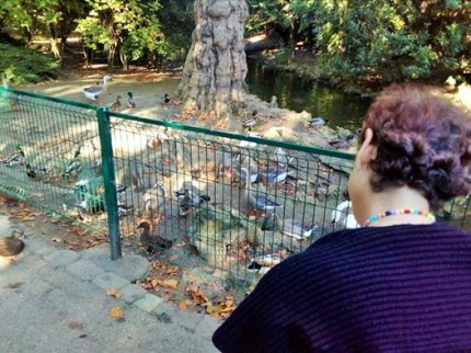Nourrissage des animaux au parc de La Rochelle, Sylvie , 55 ans ( troubles pschiariques)